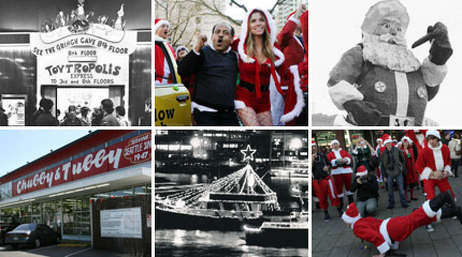 Seattle has long had its own way of celebrating Christmas, from Frangos and Frederick & Nelson to singing ships and pub-crawling Santas. Here's a look at how this city has traditionally welcomed the holiday season.  Photo: File