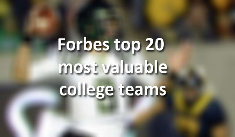 Two Texas teams made the 2013 list of the most valuable college teams.