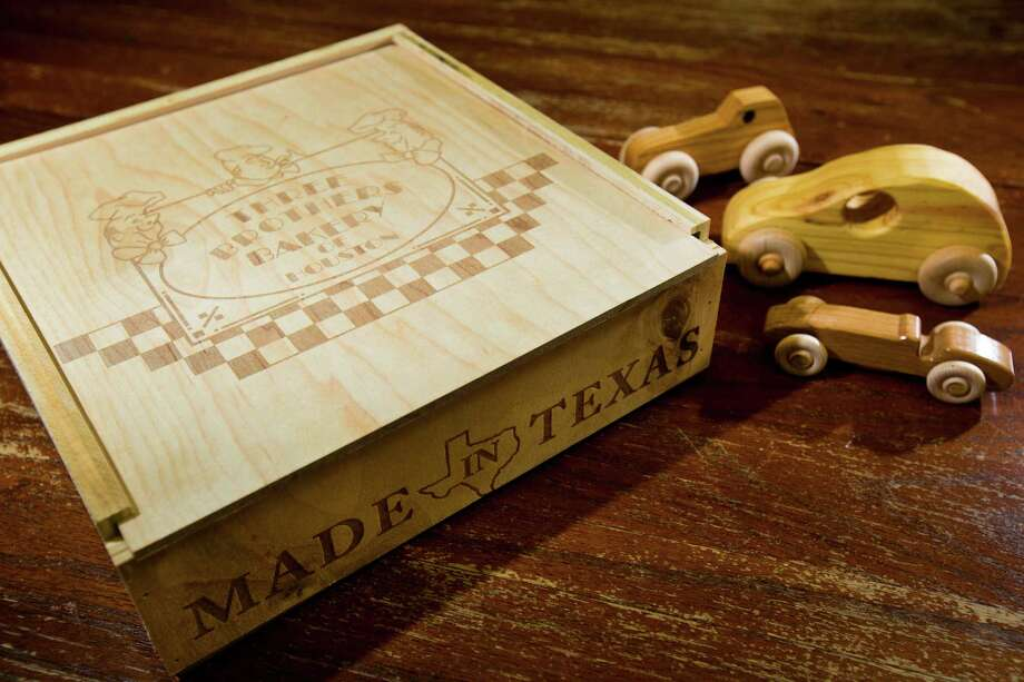 The Woodworkers Club of Houston makes pie boxes for Three Brothers Bakery and uses proceeds from their sale to build toys for kids. Photo: Marie D. De Jeséºs, Staff / © 2013 Houston Chronicle