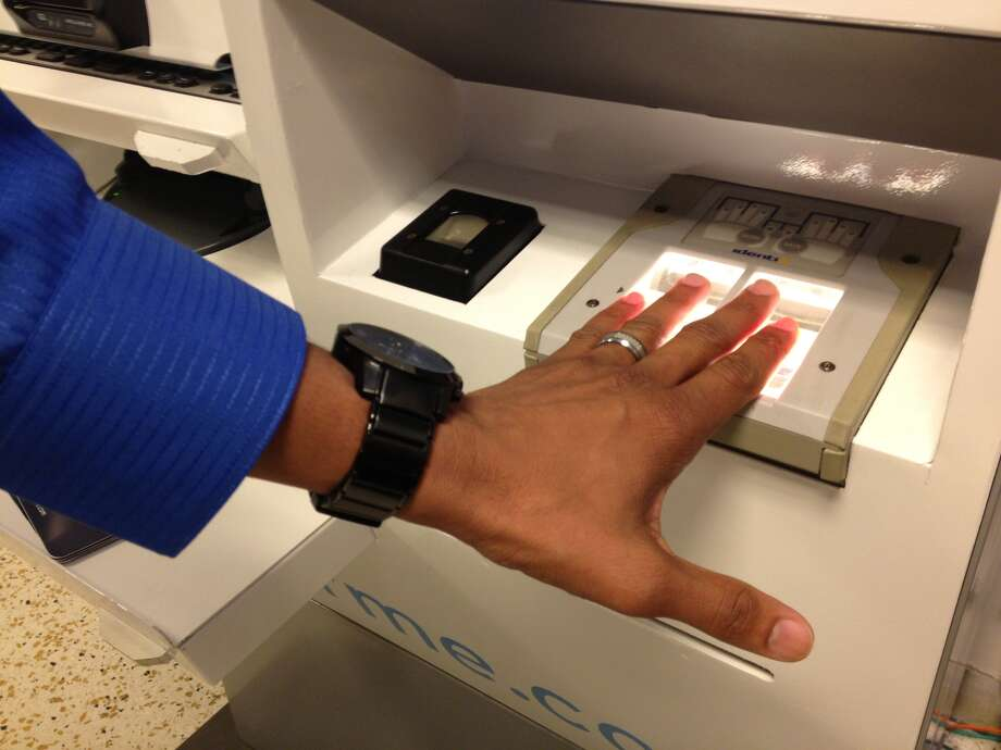 Customers will have to give fingerprints as well as iris checks to verify their identity.