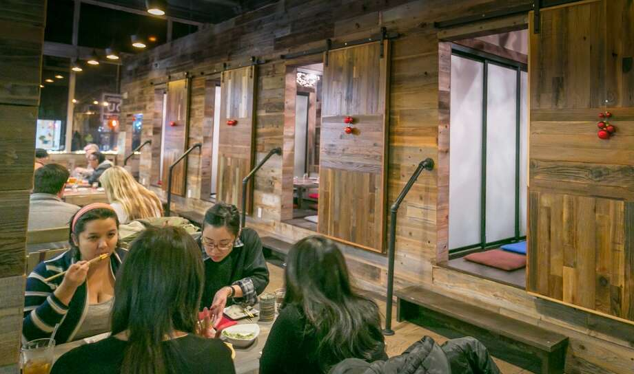 Diners enjoy dinner at Izakaya Hashibiro Kou in San Francsico. Photo: John Storey, Special To The Chronicle