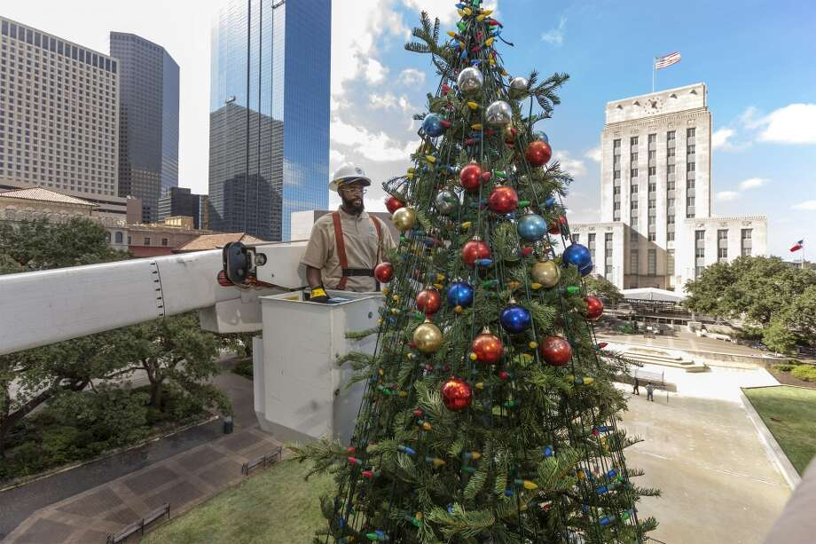 99th Annual Mayor's  Holiday Celebration and Tree Lighting6-8 p.m. Nov. 30, 2018 at Hermann Square at City Hall Free and open to the public, the annual event features a visit from Santa, music, fireworks and family friendly events.  >>>Keep clicking to see Houston area neighborhoods with the best Christmas lights... Photo: Craig Hartley, For The Chronicle