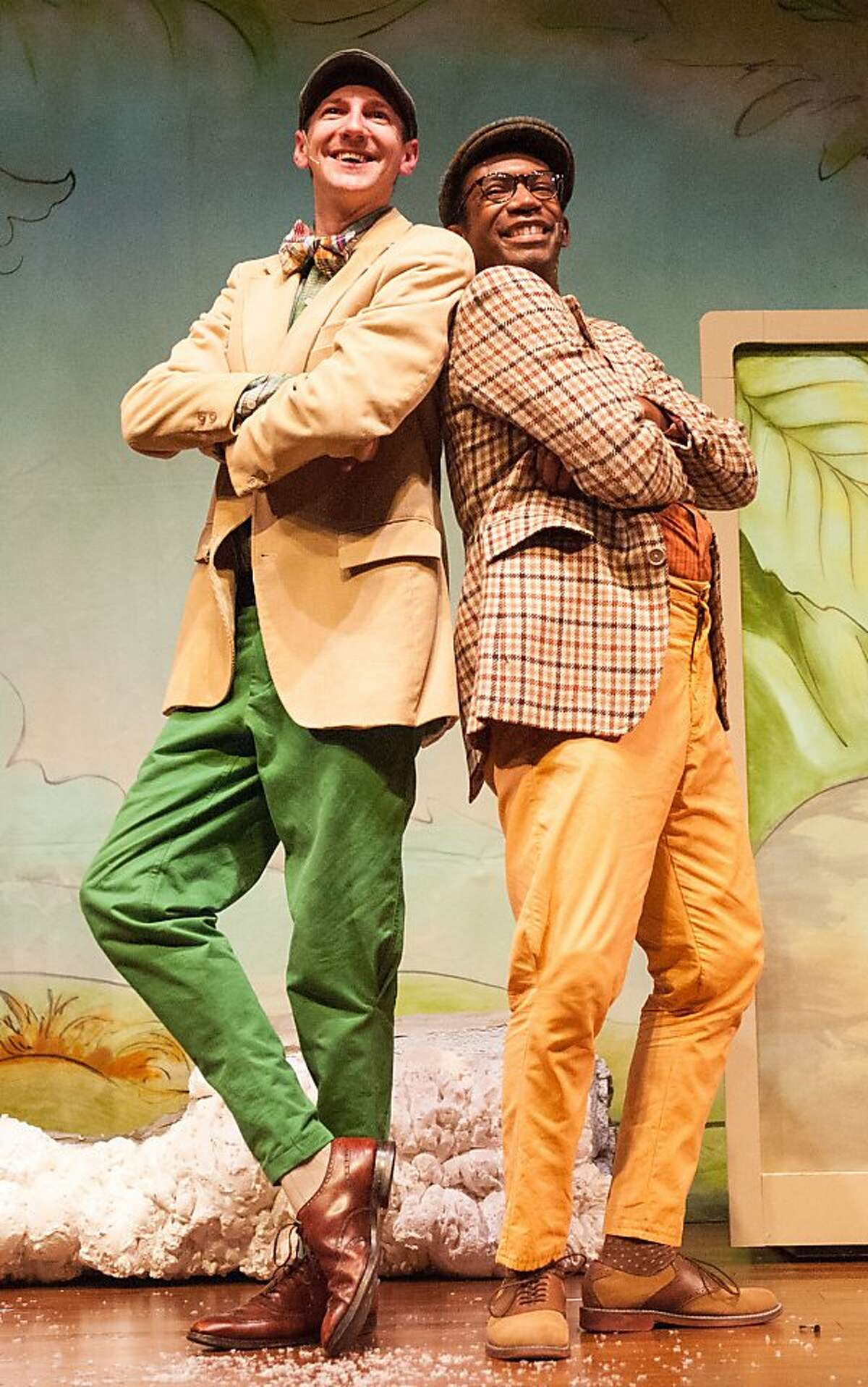 Derek Collard (Frog) and Anthony Rollins-Mullens (Toad) in