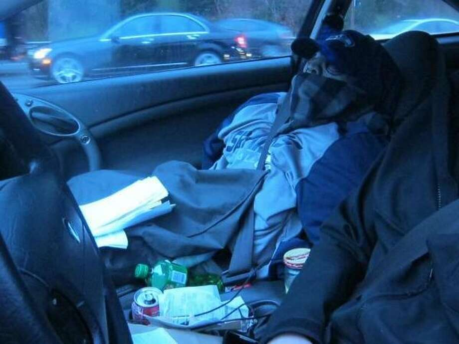 This dummy was caught on Interstate 405 in Kirkland. Go Seahawks? Photo: Washington State Patrol