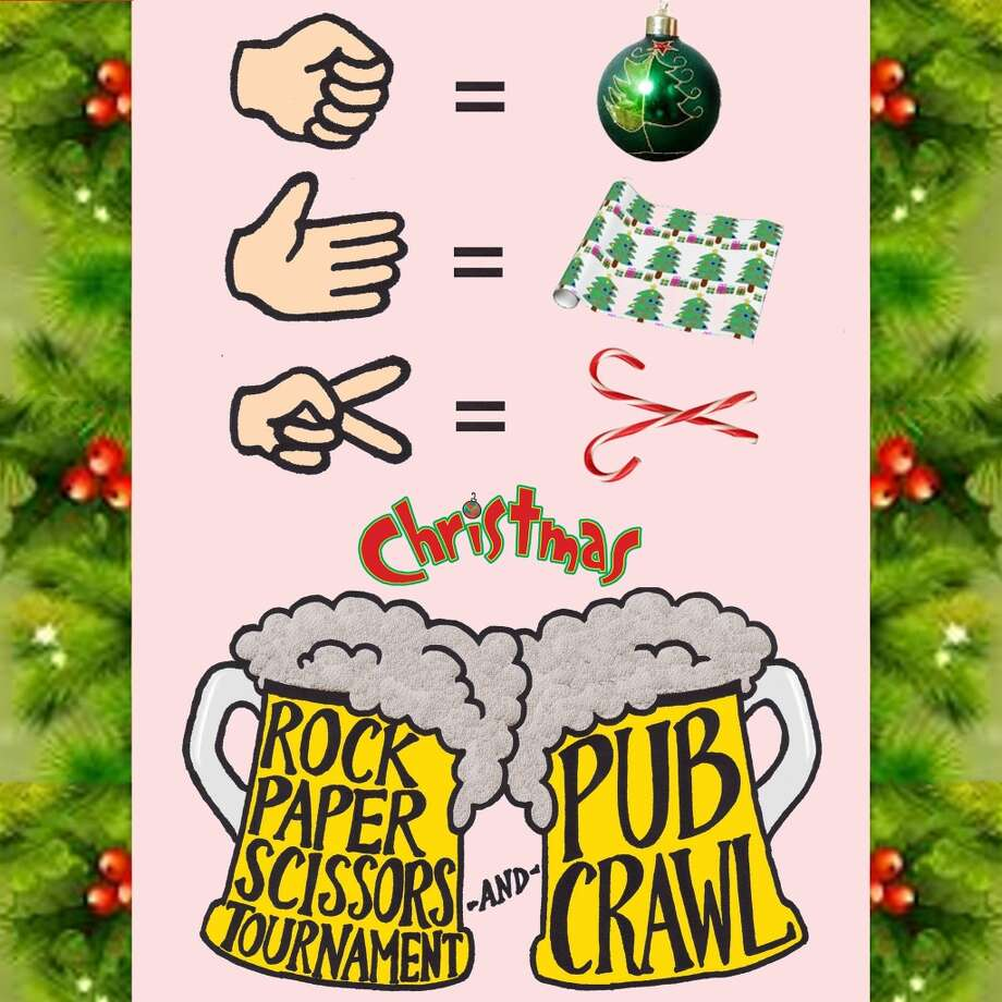 Ugly Sweater Rock Paper Scissors Pub Crawl: This weekly event begins at Northstar (1560 Powell) and moves to a new spot with each subsequent round in the Rock Paper Scissors tournament. The champion receives $50 in bar tabs and competitors get drink specials throughout the night. More info at www.facebook.com/beerpubcrawl. Photo: Https://www.facebook.com/beerpubcrawl