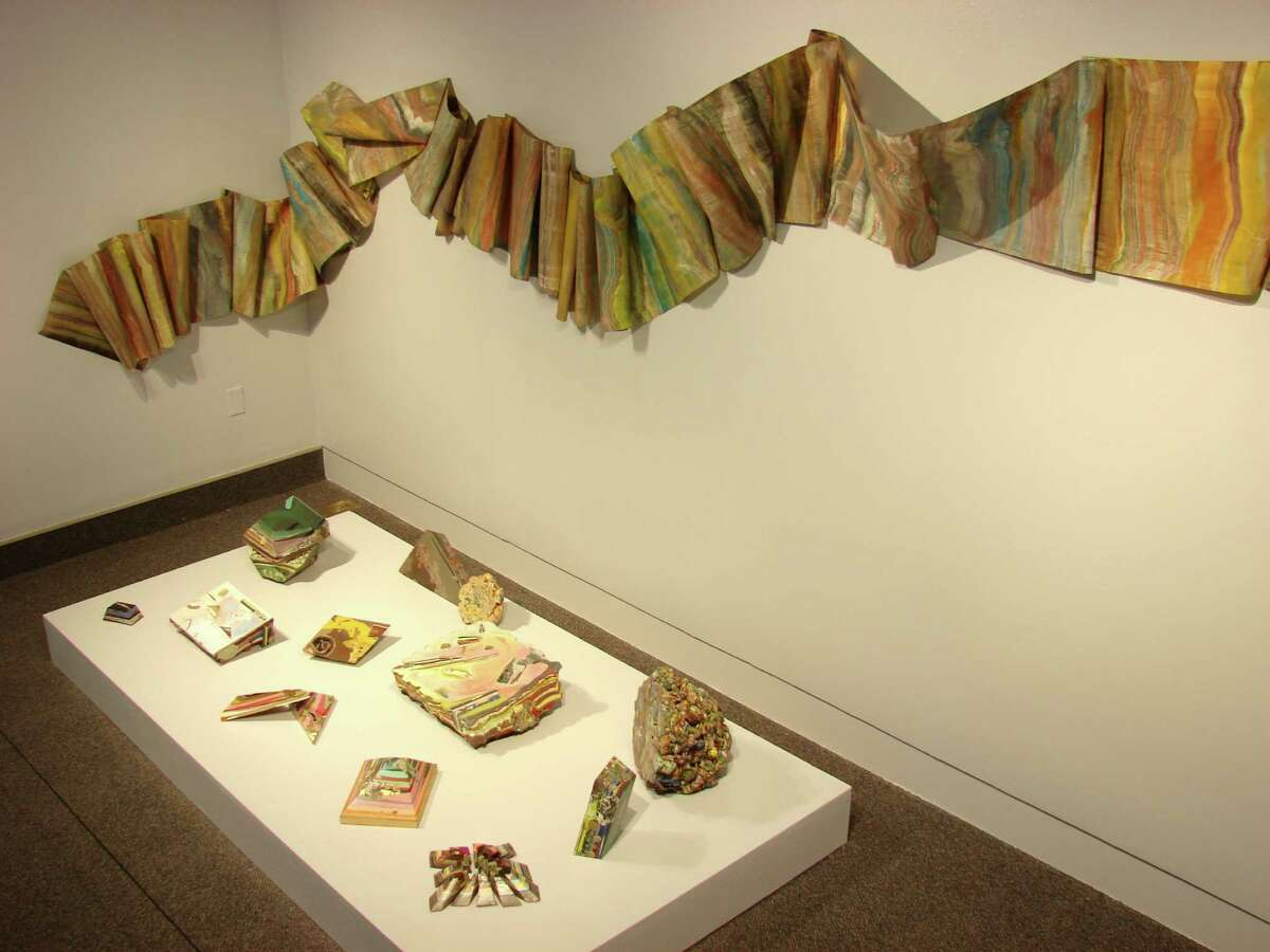 """Laura Moriarty, Fossil River, pigmented beeswax and paper, 2008-2013, on exhibition in """"Second Nature"""" at Albany Airport Gallery through March 9 (Courtesy Albany Airport Gallery)"""