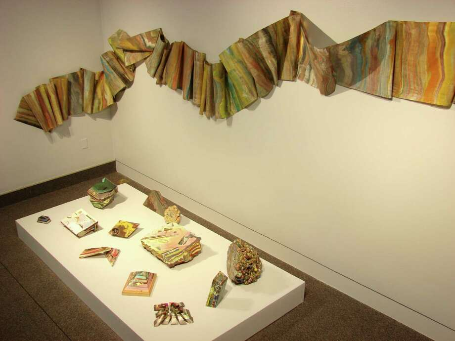 "Laura Moriarty, Fossil River, pigmented beeswax and paper, 2008-2013, on exhibition in ""Second Nature"" at Albany Airport Gallery through March 9 (Courtesy Albany Airport Gallery)"