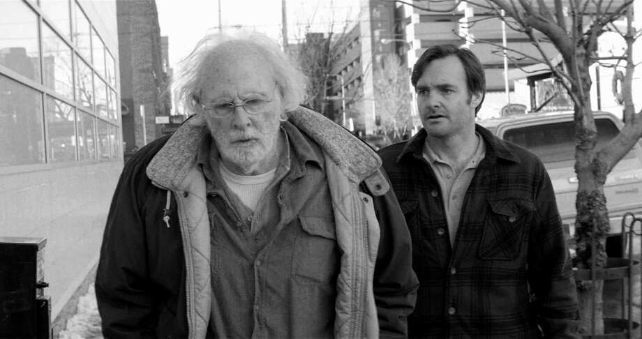"This image released by Paramount Pictures shows Bruce Dern as Woody Grant, left, and Will Forte as David Grant in a scene from the film ""Nebraska."" The film was nominated for a Golden Globe for best motion picture, musical or comedy on Thursday, Dec. 12, 2013.  The 71st annual Golden Globes will air on  Sunday, Jan. 12.  (AP Photo/Paramount Pictures) ORG XMIT: NYET720 Photo: Uncredited / Paramount Pictures"