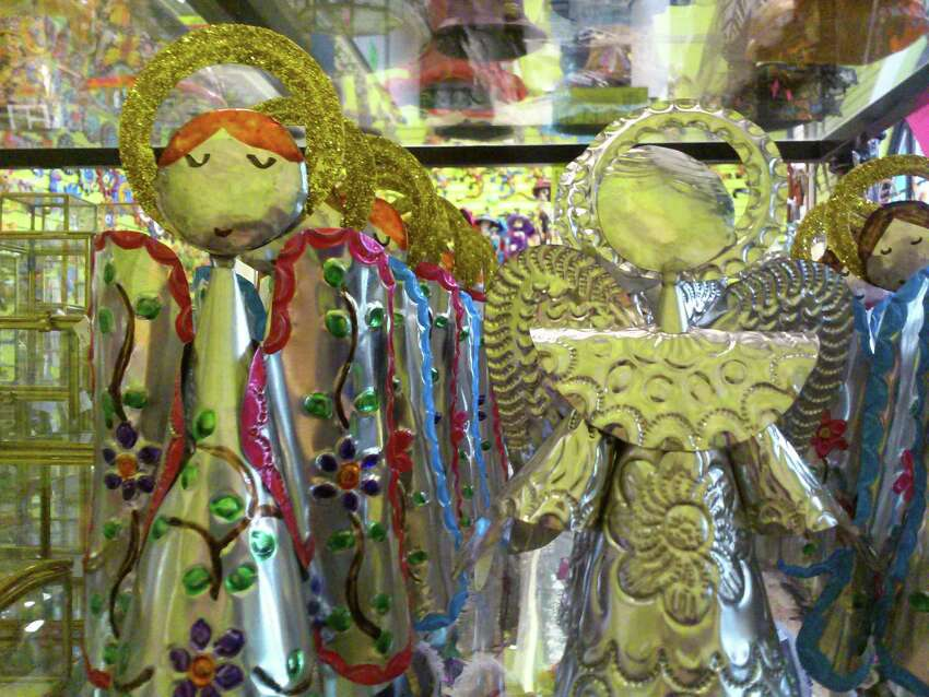 Tin angels of varying sizes and varying prices can be found at Galleria.