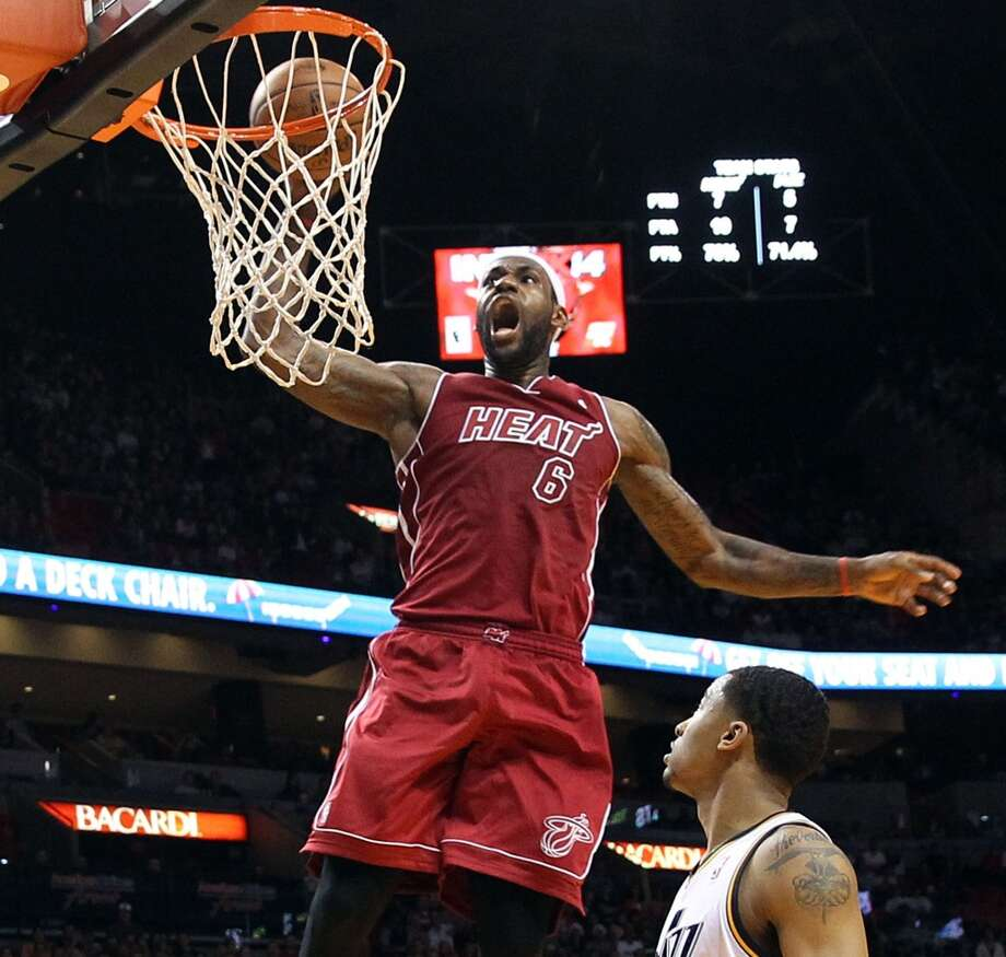 1. LeBron JamesMiami Heat forwardThe NBA announced Thursday that the Miami Heat star topped the list of jersey sales in the NBA for the sixth time.  Following the two-time defending champion Heat on the team-merchandise sales list were the Lakers, Bulls, Thunder and Knicks. Photo: Pedro Portal, MCT