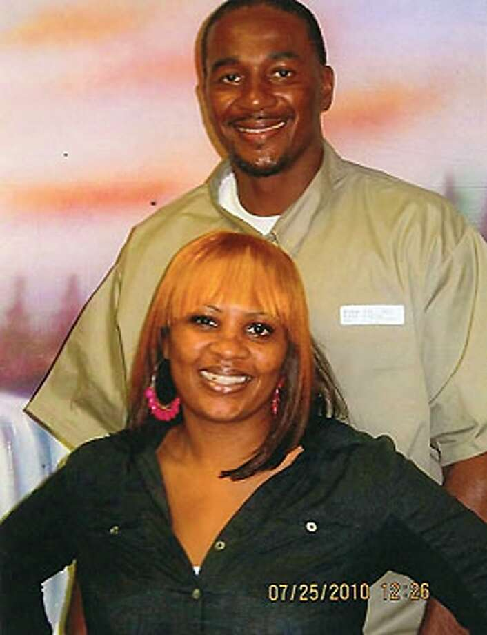 In this image provided by the Aaron family, Clarence Aaron is pictured with his sister in 2010.  Aaron is a first-time nonviolent drug offender who had his life sentence without parole commuted by President Obama on Thursday, December 19, 2013. Photo: Courtesy Of The Aaron Family