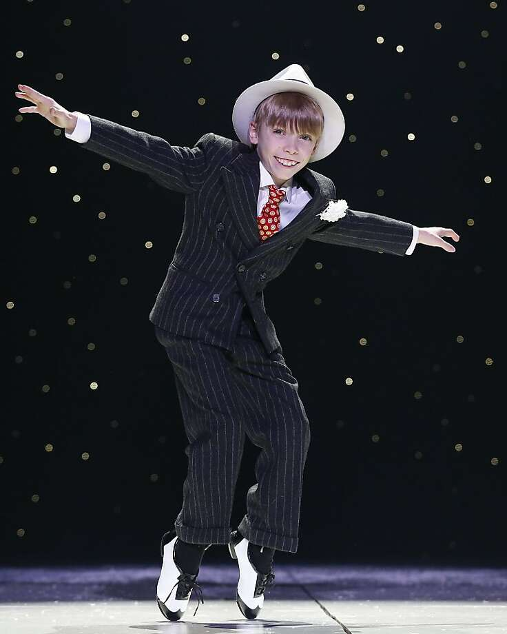 "Now 10 and featured in ""A Christmas Story: The Musical"" in New York, Luke Spring astonished onlookers when he found a discarded pair of tap shoes at age 4 and excelled immediately. Photo: Carol Rosegg, Associated Press"