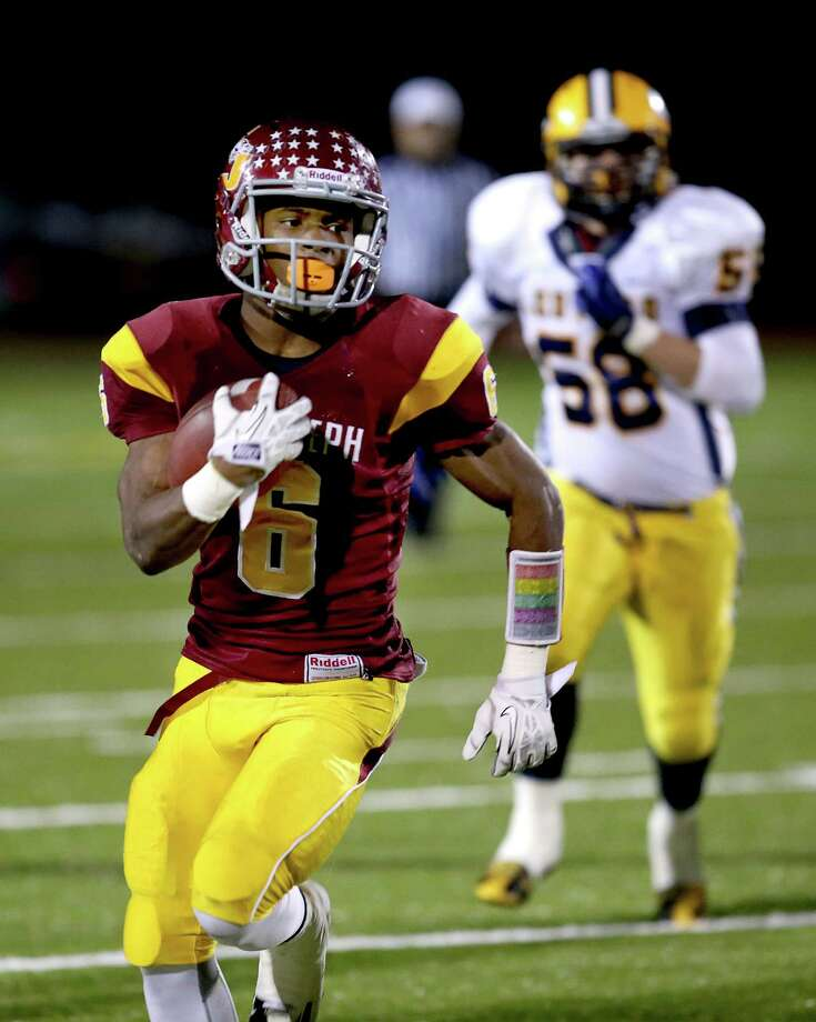 (6) Number 6 comes in at the sixth position for best names. Mufasha Abdul-Basir helped lead St. Joe's to a state title  and next year the great running back will try and help the Cadets make it back-to-back championships. Photo: Mike Ross / Mike Ross Connecticut Post freelance - @www.mikerossphoto.com
