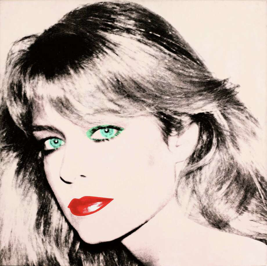 """Andy Warhol's painting """"Farrah Fawcett,"""" 1980, was bequeathed by Fawcett to the University of Texas. Photo: HONS / Blanton Museum of Art"""