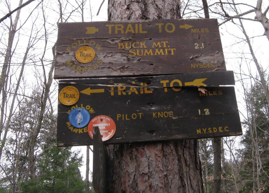 Photo by Herb Terns. The Buck Mountain trail sign. Photo: Picasa