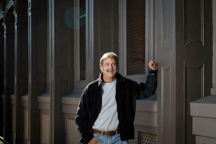 Doug McLean's company handled restoration of the Thomas Jefferson League Building, a cast-iron structure that dates to 1871. Photo: Michael Paulsen, Staff / © 2013 Houston Chronicle