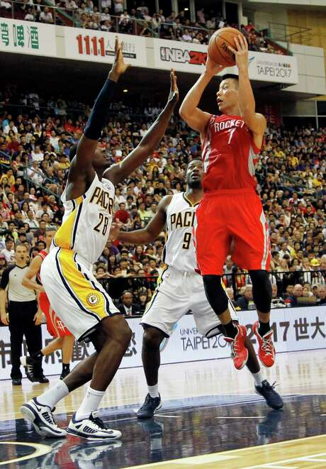 The Pacers provided the preseason opposition for Jeremy Lin, right, and company in Taipei, Taiwan. Since then, Indiana has become the toast of the Eastern Conference, while Lin has been battling injuries. Photo: Wally Santana, STF / AP