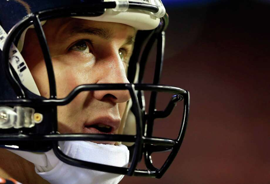 Peyton Manning's trademark concentration was on display this week with his refusal to look beyond anything but Sunday's game. Photo: Jamie Squire, Staff / 2013 Getty Images