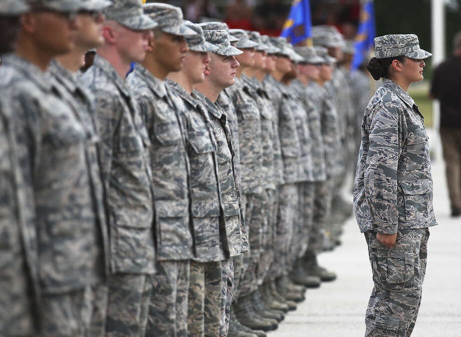 """Beginning next year, as soon as they finish basic training at Joint Base San Antonio-Lackland, new airmen will attend a """"capstone course"""" that offers advice on life skills, including protecting against sex assault. Photo: San Antonio Express-News / File Photo / ©2013 San Antonio Express-News"""