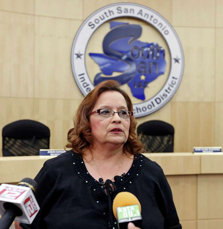 Rose Marie Martinez, then-board President of South San ISD, had been informed of the investigation in August by the TEA, officials said. Photo: San Antonio Express-News / © 2013 San Antonio Express-News