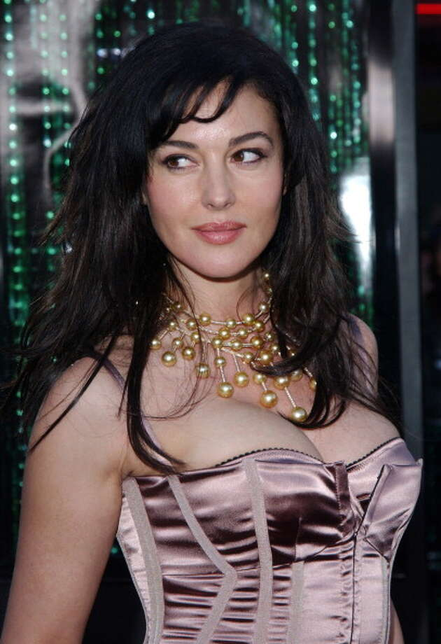 "Monica Bellucci during ""The Matrix Reloaded"" premiere arrives at The Mann Village Theater. Photo: Jon Kopaloff, FilmMagic"