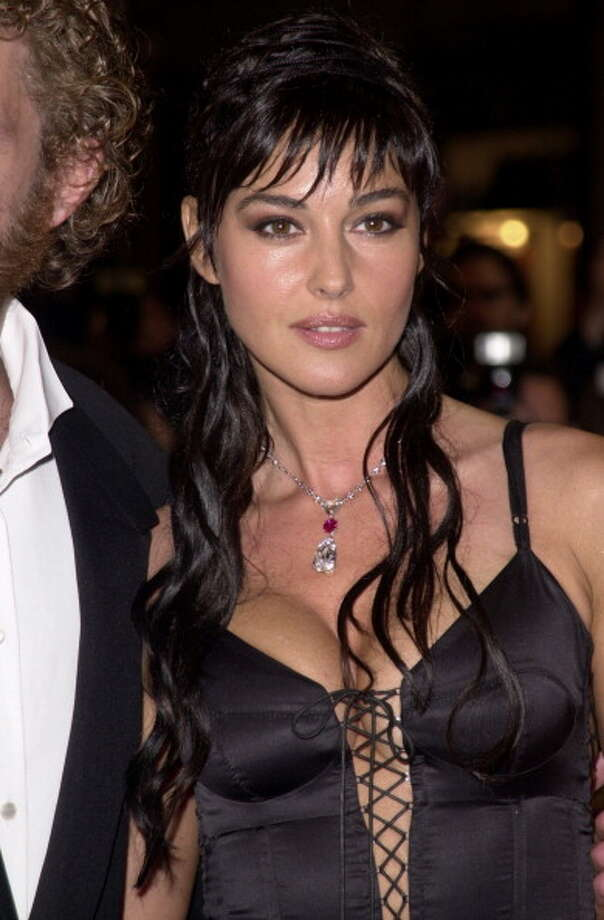 "Monica Bellucci during the ""Irreversible"" Premiere at Palais des Festivals in Cannes, France in 2002. Photo: Tony Barson Archive, WireImage"