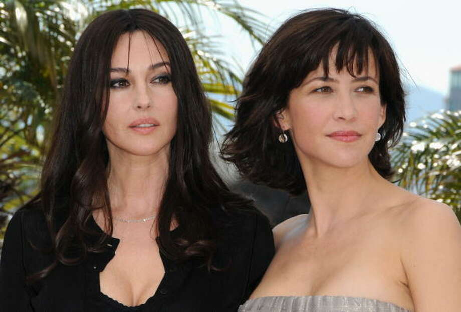 "Actresses Monica Bellucci and Sophie Marceau attend the ""Don't Look Back"" Photo Call at the Palais des Festivals during the 62nd Annual Cannes Film Festival in 2009. Photo: Tony Barson, WireImage"