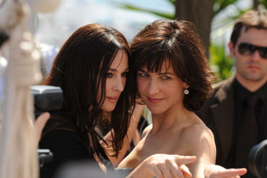 "Actresses Monica Bellucci and Sophie Marceau attend the ""Don't Look Back"" Photo Call at the Palais des Festivals during the 62nd Annual Cannes Film Festival in 2009. Photo: George Pimentel, FilmMagic"