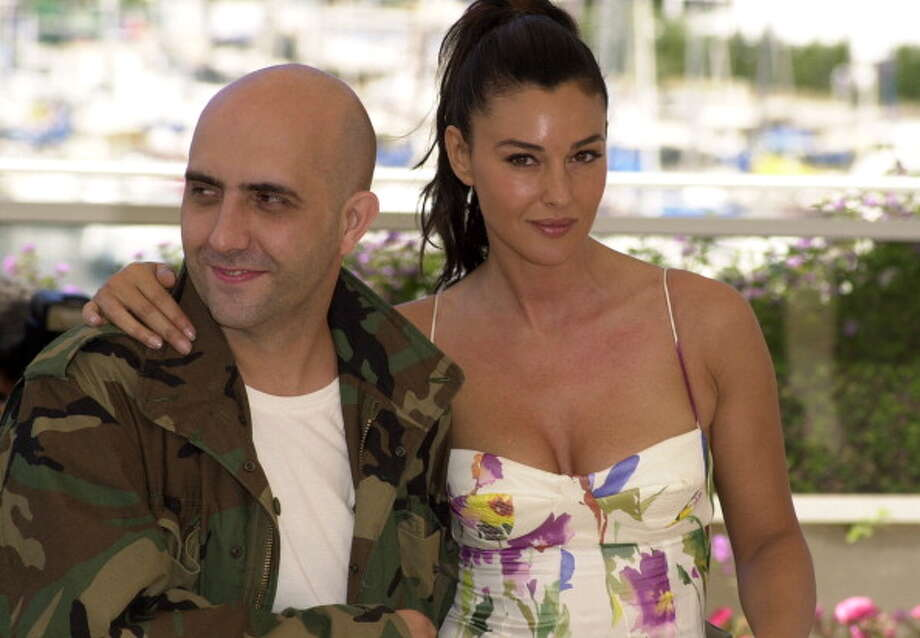 """Writer/director Gaspar Noe and Monica Bellucci during the """"Irreversible""""  photo call at Palais des Festivals in Cannes, France in 2002. Photo: Tony Barson Archive, WireImage / WireImage"""