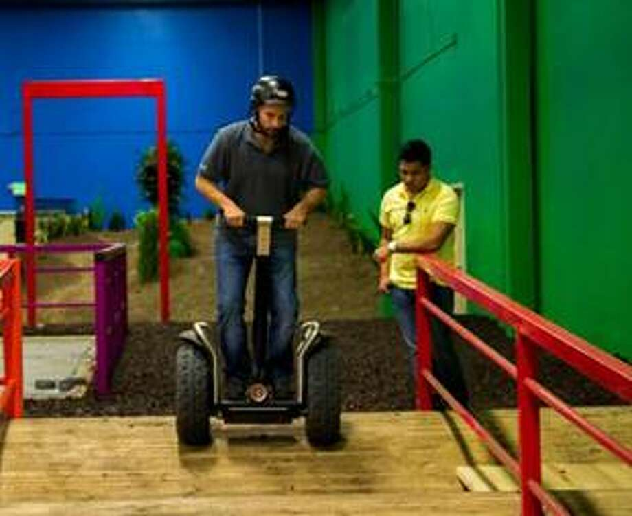The Segway Outback obstacle course spans 20,000 square feet. Photo: Katy Mills