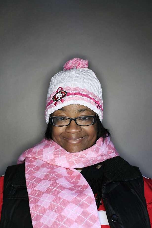 49ers fan Lisa Robinson, 38, of Somerset, NJ. Photo: Mike Kepka, The Chronicle