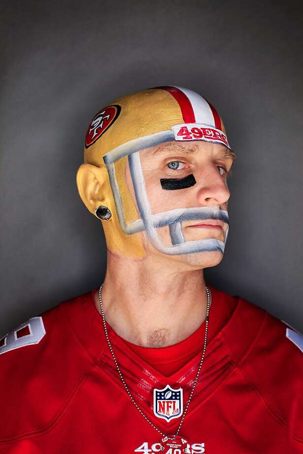 49ers fan Marcus Sperry, 39, of Folsom. Photo: Mike Kepka, The Chronicle