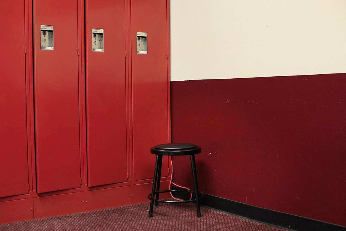 The original lockers in the home locker room - After more than 40 years of service to San Francisco 49ers, Candlestick Park prepares to be left behind for a new stadium in Santa Clara, Calif.