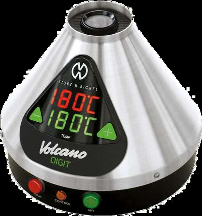 Volcano Vaporizer. $669.00. German-made, medical-grade, beefy steel — there is only one Volcano Vaporizer and it dominates the market for high-end, desktop units. The toaster-sized device forces air through a heating element, a chamber full of herb and into a huge balloon. The large LED display allows you to dial in the temperature. Comes with a three-year warranty.