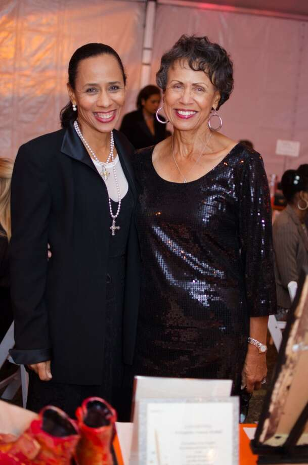 Gina Carroll and Toni Davis during YWCA of Houston's Shoe Soiree Fundraiser. Photo: Jamaal Ellis, For The Chronicle