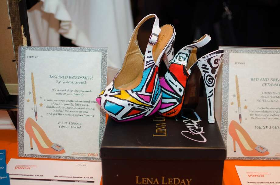 A pair of shoes by up for auction during YWCA of Houston's Shoe Soiree Fundraiser. Photo: Jamaal Ellis, For The Chronicle