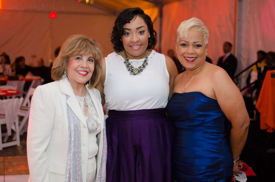 M. Helen Cavazos, Lene Leday , and Terri Broussard Davis during YWCA of Houston's Shoe Soiree Fundraiser. Photo: Jamaal Ellis, For The Chronicle