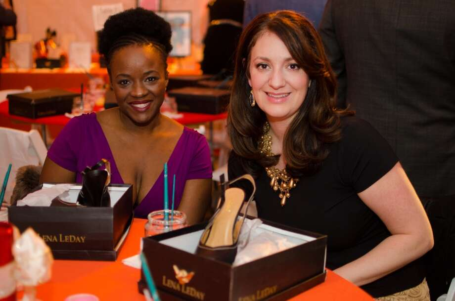 Carliss Chatman and Mitra Woody during YWCA of Houston's Shoe Soiree Fundraiser. Photo: Jamaal Ellis, For The Chronicle