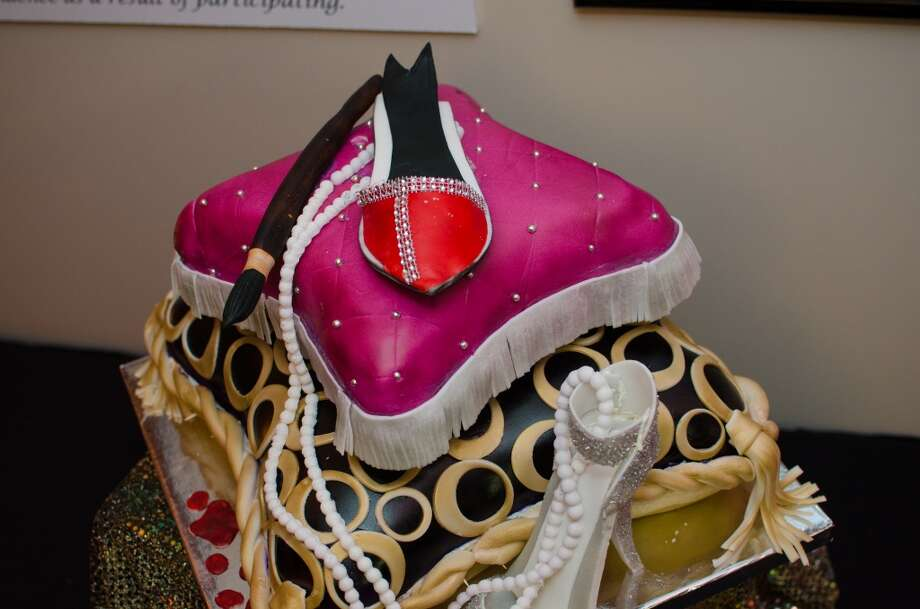 A shoe painting themed Cake made for YWCA of Houston's Shoe Soiree Fundraiser. Photo: Jamaal Ellis, For The Chronicle