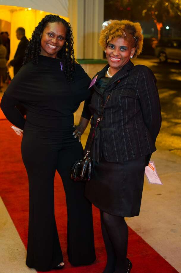 Charisse Oliver and Reketha Lewis during YWCA of Houston's Shoe Soiree Fundraiser. Photo: Jamaal Ellis, For The Chronicle