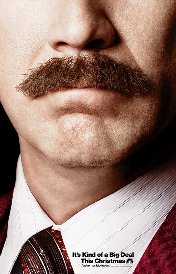 ANCHORMAN 2: THE LEGEND CONTINUES - With the onslaught of media promotions for this sequel, this very simple one is the best.