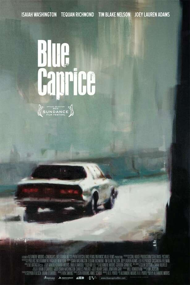 BLUE CAPRICE - The real-life tale of the D.C. snipers gets a painted poster that echoes the cover of a lurid, pulp novel of the 60s or 70s. / Copyright © ©IFC Films