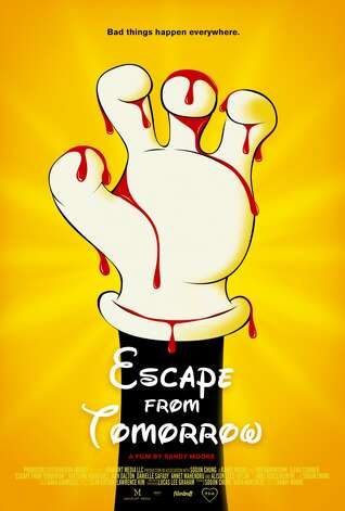 """""""Escape from Tomorrow"""" —On the last day of a family vacation at Disney World, Jim White learns that he's lost his job. Soon thereafter, he begins to lose his mind, wandering through the artificial phantasmagoria and becoming obsessed with two perky French girls. Available Now!"""