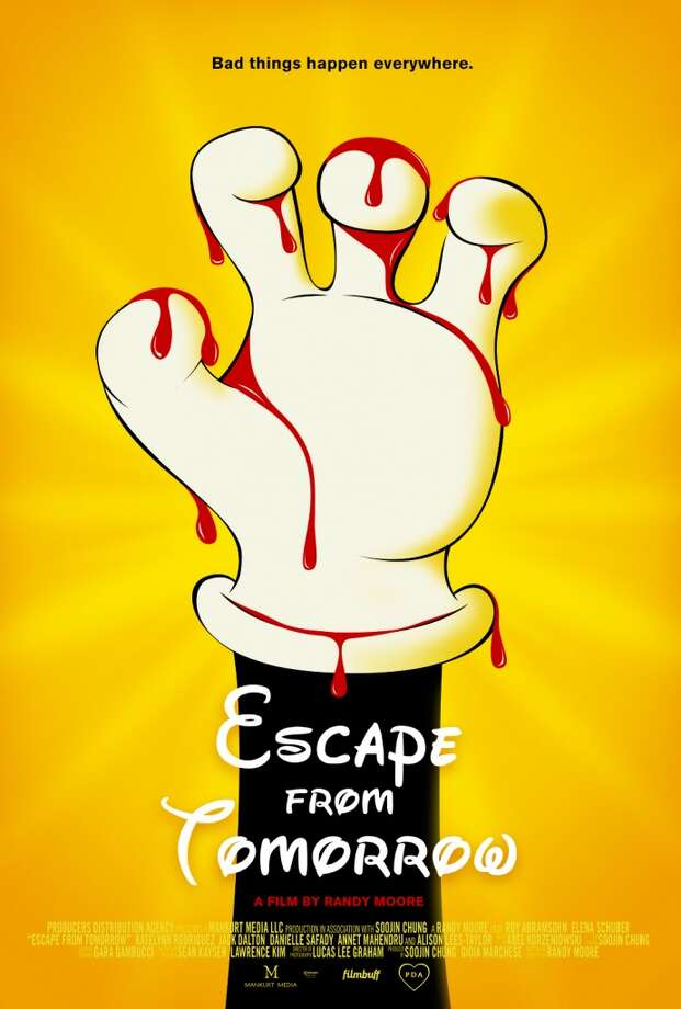 """""""Escape from Tomorrow""""—On the last day of a family vacation at Disney World, Jim White learns that he's lost his job. Soon thereafter, he begins to lose his mind, wandering through the artificial phantasmagoria and becoming obsessed with two perky French girls. Available Now!"""