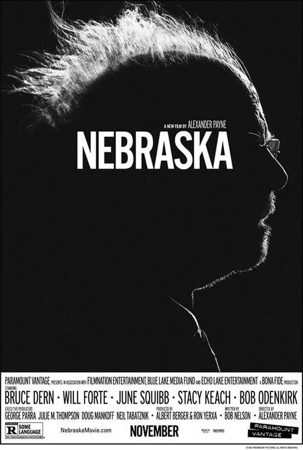 NEBRASKA - When you have Bruce Dern and that white shock of fuzz he calls hair, why use anything else? The darkness and unforgiving nature of the image also serve to reflect the main character's dwindling mental capacities.