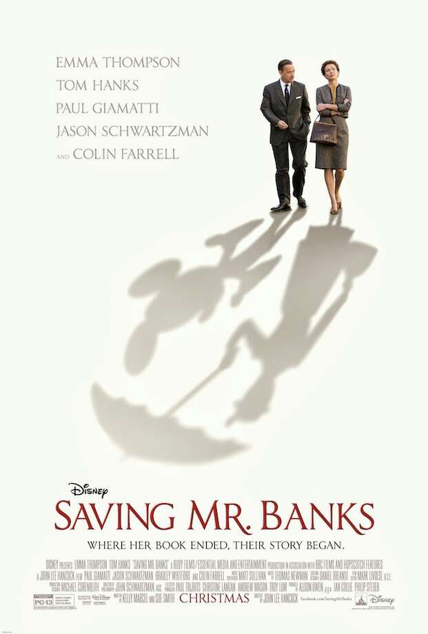 """SAVING MR. BANKS - Nicely done, Disney. Maybe the movie's a slightly whitewashed telling of the battles of """"Mary Poppins,"""" but the shadows perfectly capture the whimsy, the secrets, the darkness that lay beneath."""