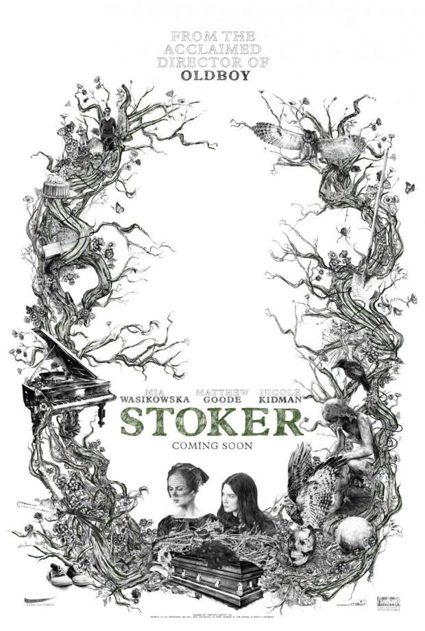 STOKER - No stars in this poster (although the other main image does have them and it's a winner, too), but the graphic, twisted fairytale rendering is gorgeous.