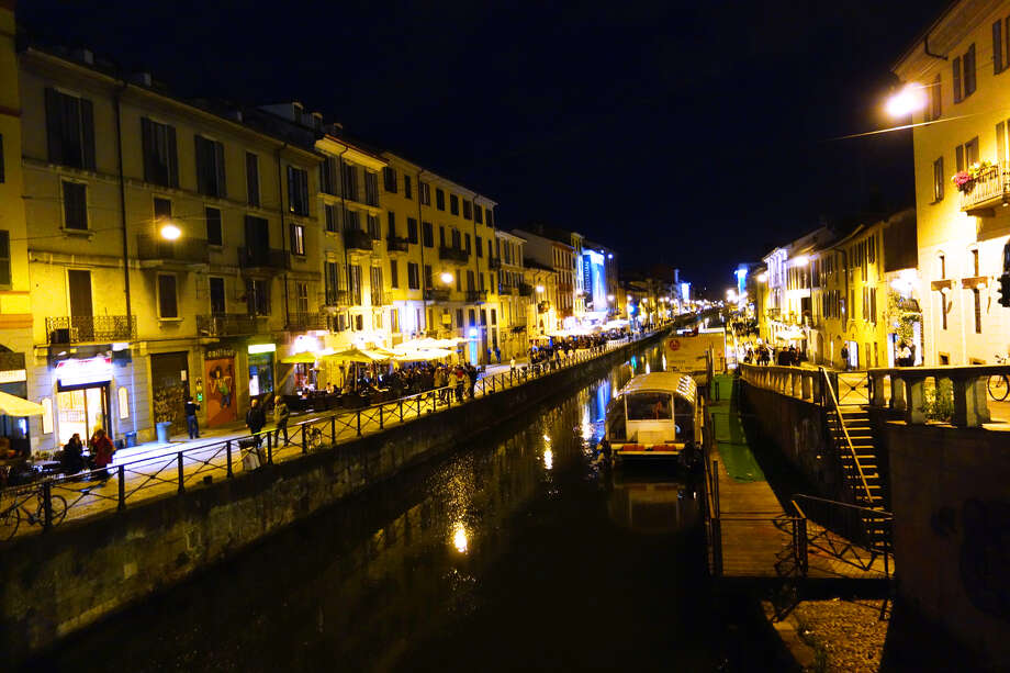 The centuries-old canal zone called Naviglio Grande has found new life as a fun nightlife venue. Photo: Rick Steves/Rick Steves' Europe, Ricksteves.com