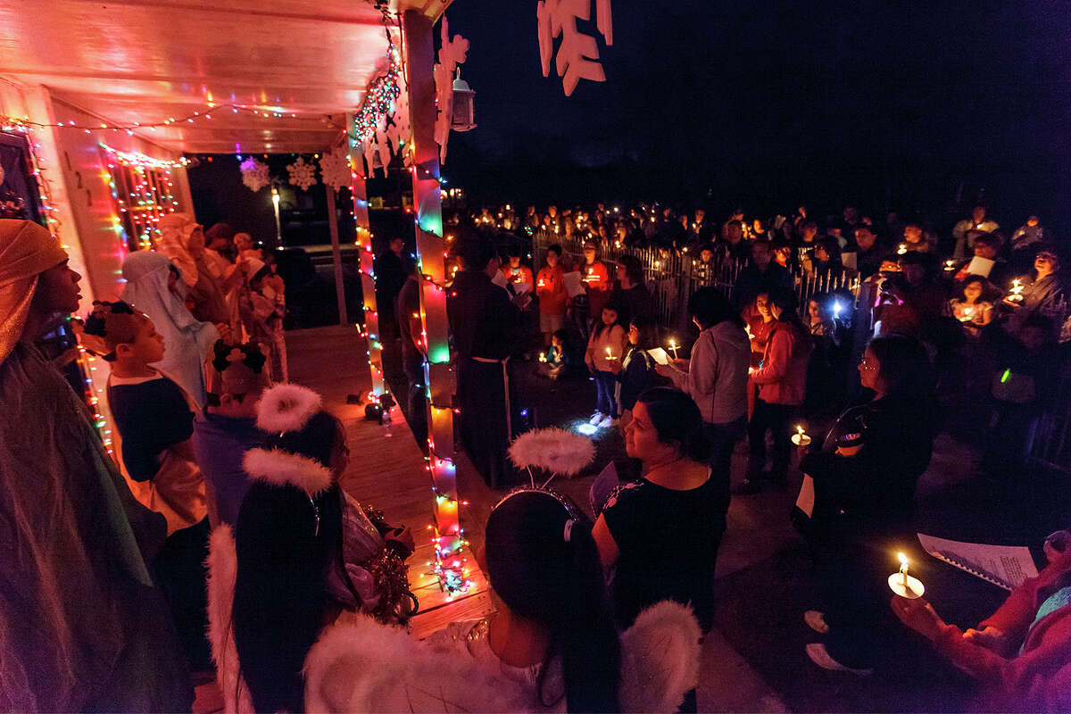 Las Posadas at Mission San Jose The mission, located at 701 E. Pyron Ave., will host Las Posadas at 7 p.m. from Dec. 16-23. The church will also hold a vigil mass at 7 p.m. on Christmas Eve and masses at midnight and 9 a.m on Christmas Day.