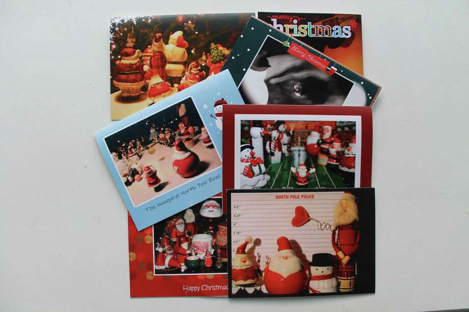 An assortment of Breunig family Christmas cards. Photo: John Breunig / Stamford Advocate